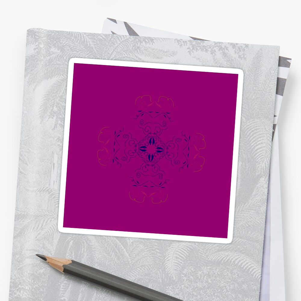 Mandala purple by Bee and Glow Illustrations Shop
