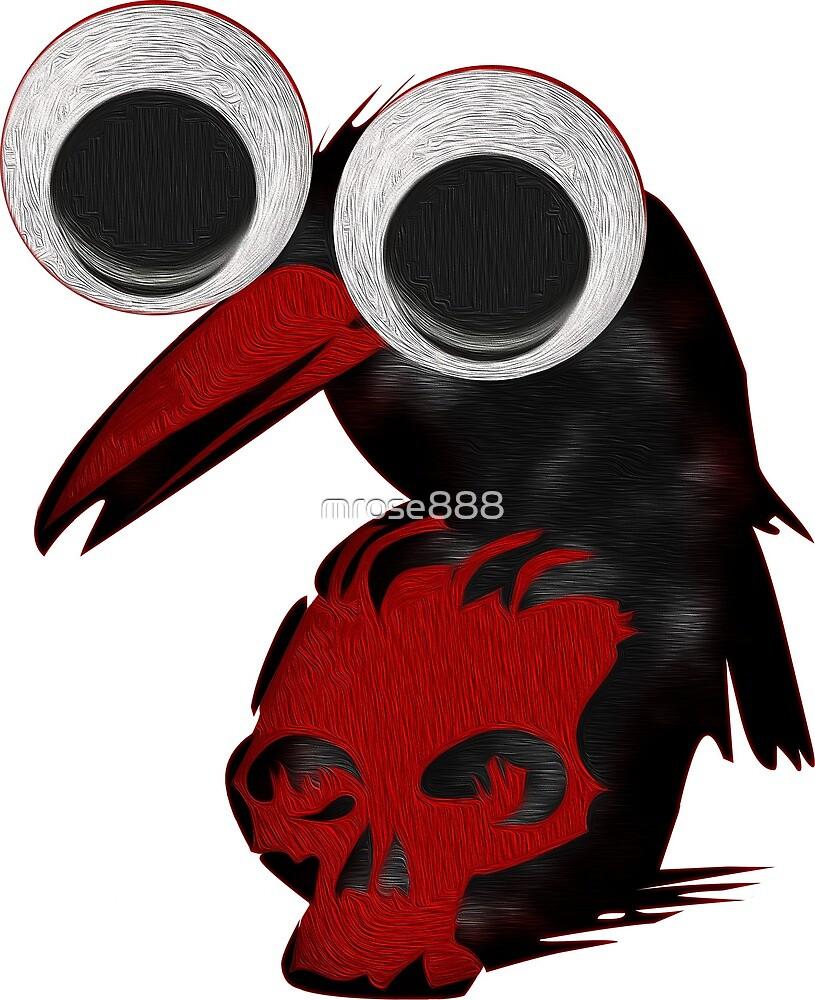 Googly eye crow on a skull - Halloween Fun by mrose888