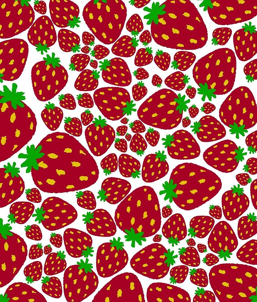 Explosion of strawberries by LeeMKsi