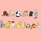 Ye Ol' Merry Christmas Kitty's by Elvedee