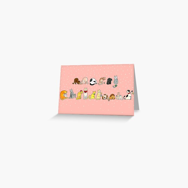 Ye Ol' Merry Christmas Kitty's Greeting Card