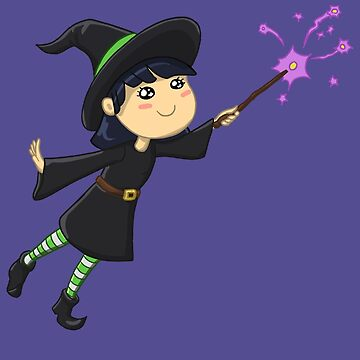 Little Witch Girl Sparkle Spell by Travosaurus-Rix