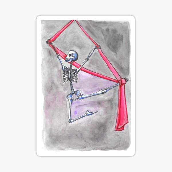 Aerial Silks Skeleton Sticker
