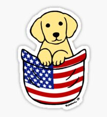 Yellow Labrador Puppy Pocket Sticker