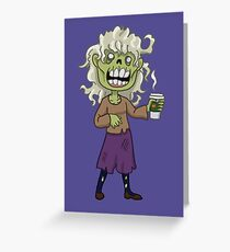 Pumpkin Spice Zombie Girl Greeting Card