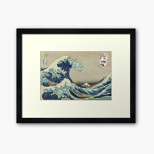 The Great Wave Off Katara Framed Art Print