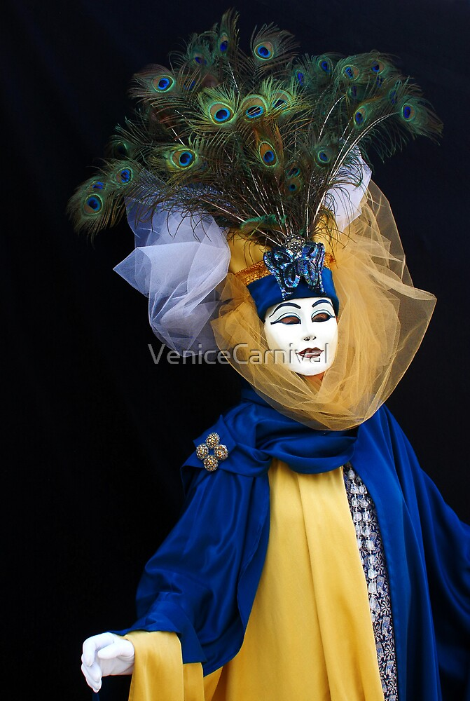 Blue Peacock  by VeniceCarnival