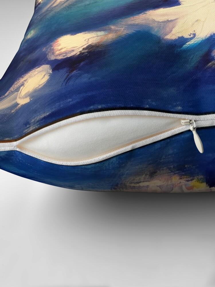 Coussin ''Bleu printanier': autre vue