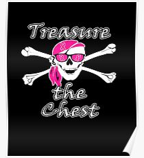 Treasure The Chest Breast Cancer Awareness  Poster