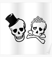 skeletons love Poster