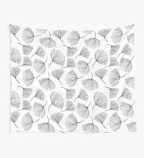 Fantasy flowers black and white. Wall Tapestry