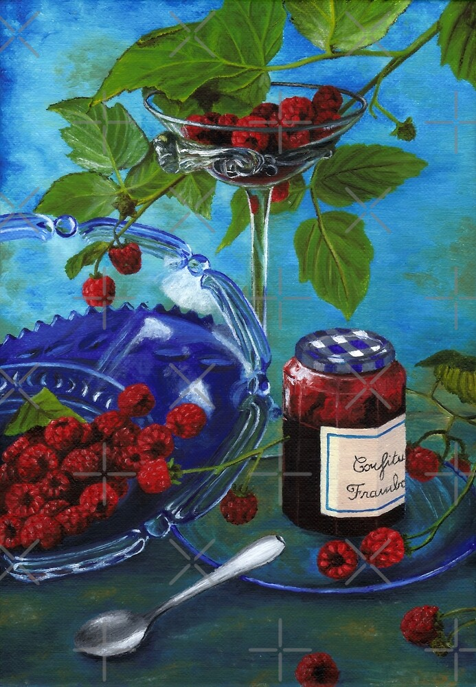Still-life with raspberries by savousepate