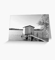 Boathouse, Maroochydore River, Maroochydore Qld Australia Greeting Card