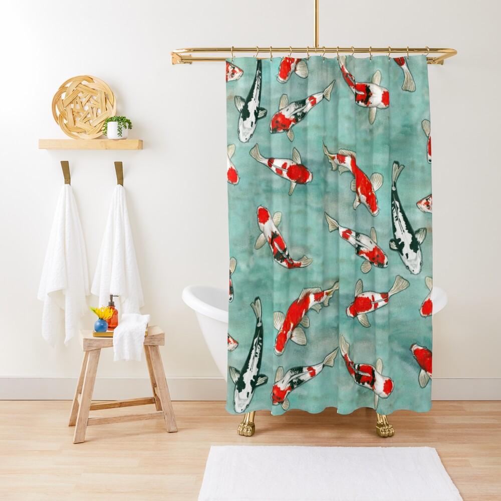Le ballet des carpes koi Shower Curtain