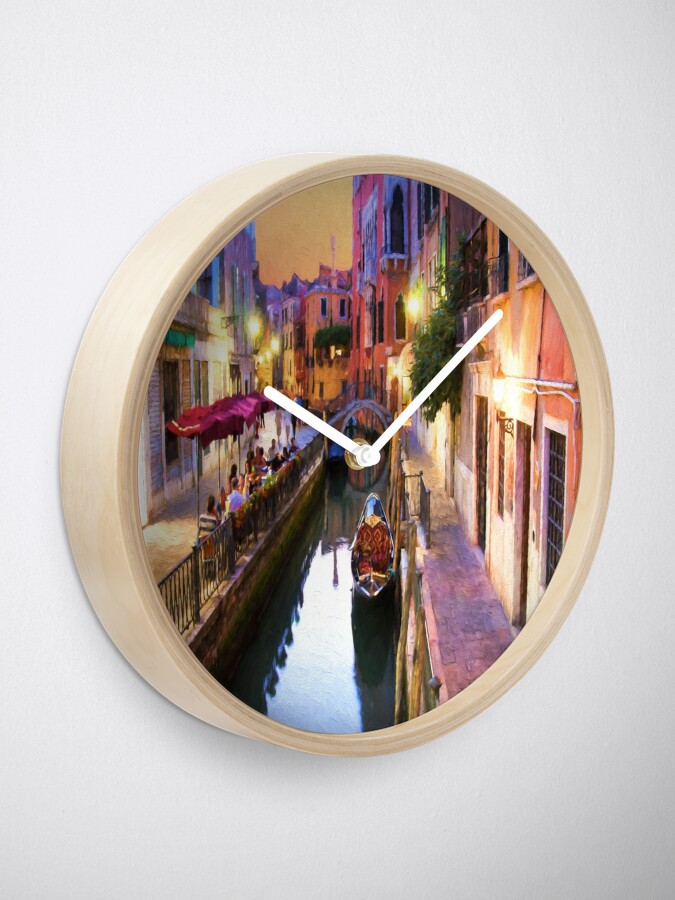 Alternate view of Romantic Venice Italy Canal Clock