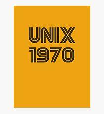 Unix 1970 Photographic Print