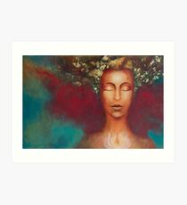 Priestess of Beauty & Light Art Print