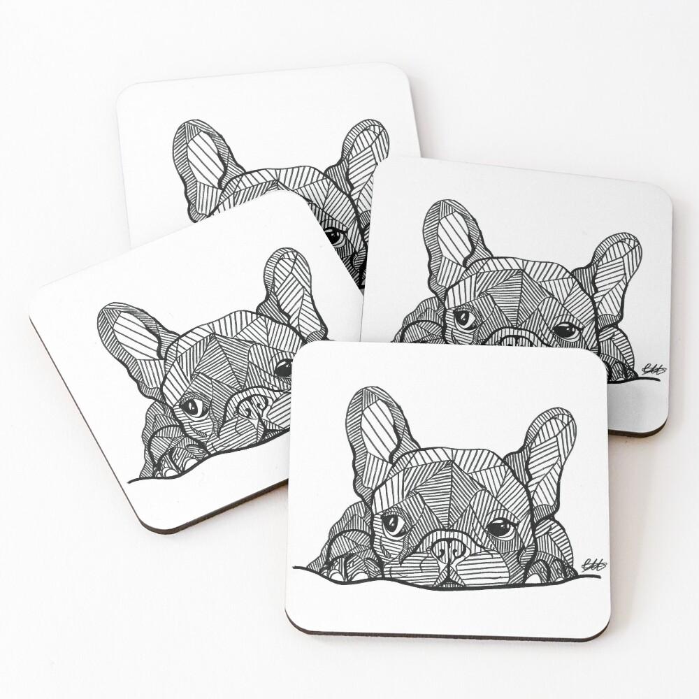 French Bulldog Puppy Coasters (Set of 4)