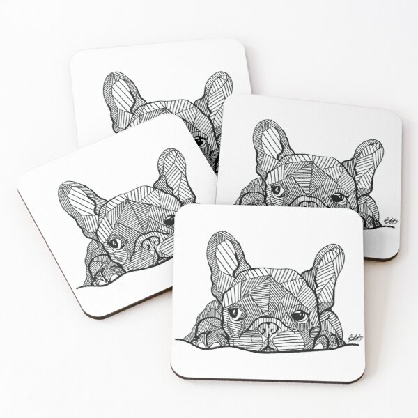 French Bulldog Puppy Coasters (Set of 4)