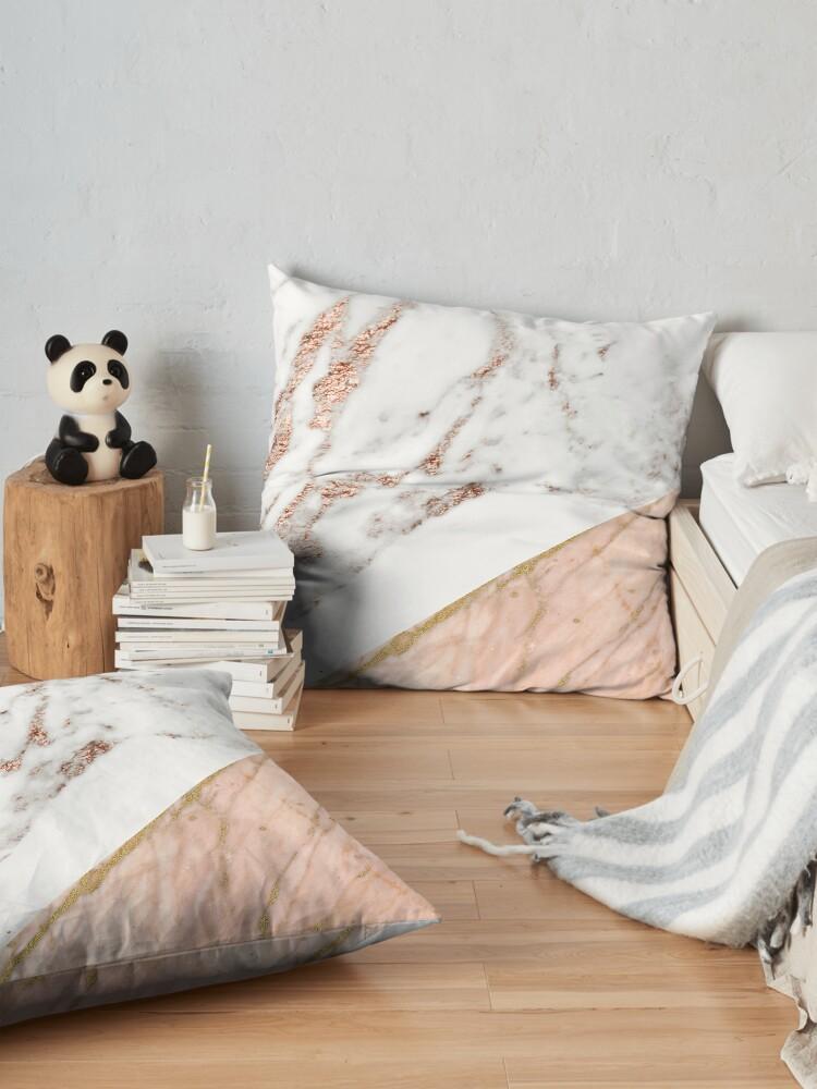 Alternate view of Rose gold marble blended Floor Pillow