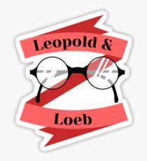 Leopold and Loeb glasses (ver. 1) Sticker