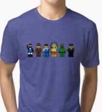 BRICK MEN VILLAGE PEOPLE- Camp Spoof Design  Tri-blend T-Shirt
