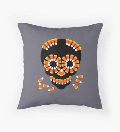 Candy Skull Halloween Theme by Patjila Floor Pillow