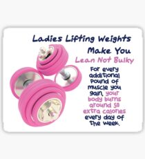 Ladies Lifting Weights - Infographic Sticker