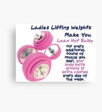 Ladies Lifting Weights - Infographic Canvas Print