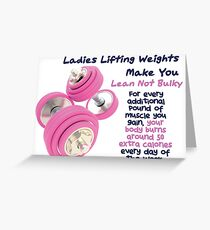 Ladies Lifting Weights - Infographic Greeting Card