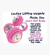 Ladies Lifting Weights - Infographic Photographic Print