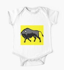 Bison with yellow background One Piece - Short Sleeve