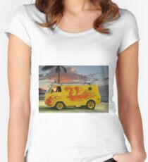 1960's Ford Econo-Line 'Surfer' Van Women's Fitted Scoop T-Shirt