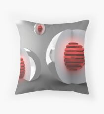 Red Cores Throw Pillow