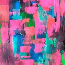 Pink Abstract art by jen28nart