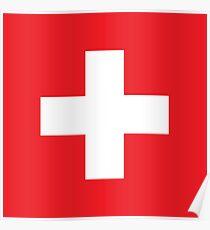 Swiss, Switzerland, Swiss Flag, Flag of Switzerland, White Cross, Swiss Confederation, Poster