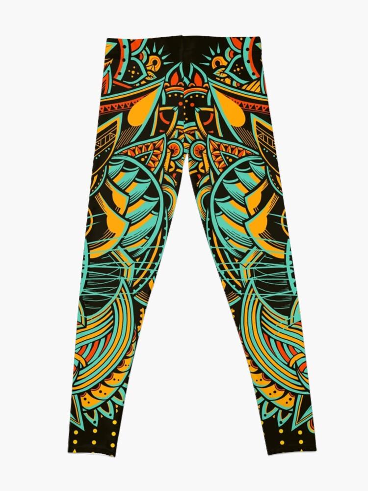 Alternate view of Tiger Mandala (Colored Version) Leggings