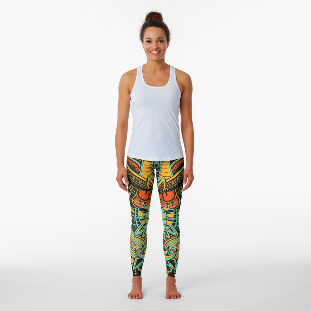 Tiger Mandala (Colored Version) Leggings