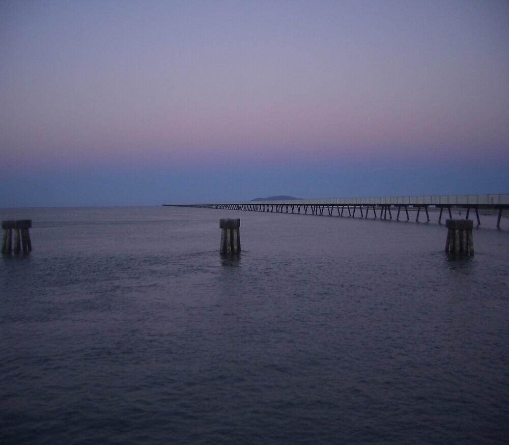 Sunset Lucinda Sugar Terminal, North Queensland by wpcrighton