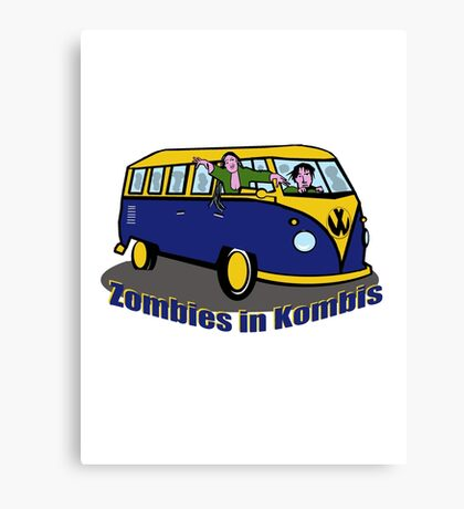 Zombies in Kombies Canvas Print