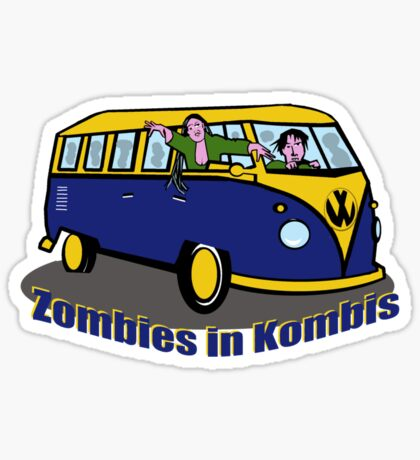 Zombies in Kombies Sticker
