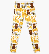 honeycomb and bee bee bee Leggings