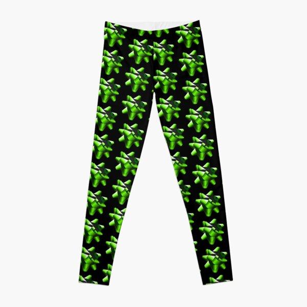 Green Present Bow Leggings