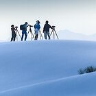 Photographers in the Dunes by Linda Sparks