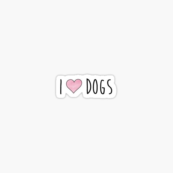 I heart dogs Sticker