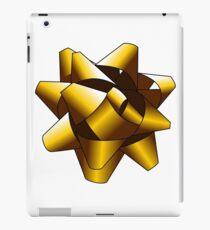 Gold Present Bow iPad Case/Skin