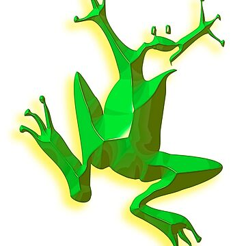 GREEN, FROG, Jumping Jehoshaphat! Help! Its the Green frog! Pond life by TOMSREDBUBBLE