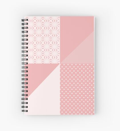 AFE Coral & Pink Abstract Spiral Notebook