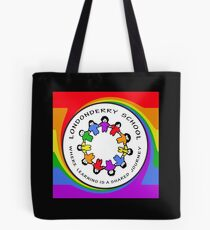 Londonderry Original Logo with Rainbow Swirl Tote Bag
