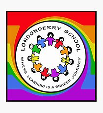 Londonderry Original Logo with Rainbow Swirl Photographic Print